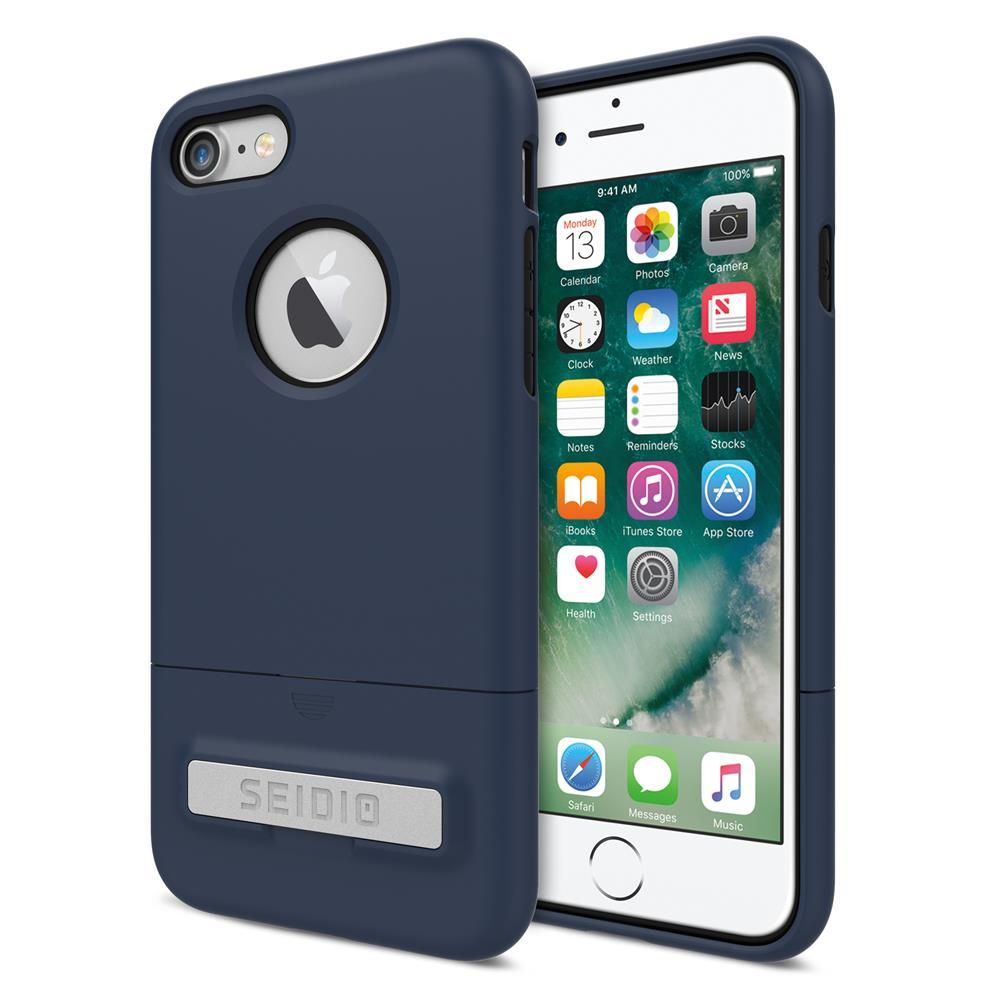 SEIDIO|都會時尚雙色手機殼/保護殼 for Apple iPhone 8-SURFACE(暗夜藍)
