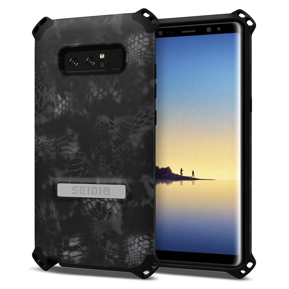 SEIDIO|軍規級四角防撞手機殼/保護殼 for Samsung Galaxy Note 8-DILEXx KRYPTEK(闇夜黑蟒)