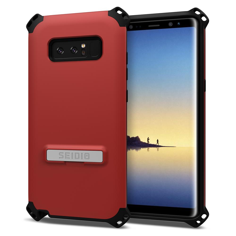SEIDIO 軍規級四角防撞手機殼/保護殼 for Samsung Galaxy Note 8-DILEX(熱情紅)