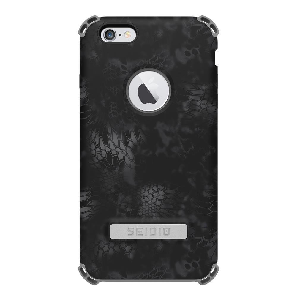 SEIDIO|軍規級四角防摔手機殼/保護殼 for Apple iPhone 6/6s Plus-DILEXx KRYPTEK(闇夜黑蟒)