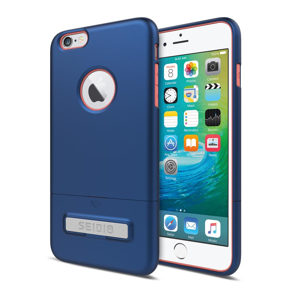 SEIDIO|都會時尚雙色手機殼/保護殼 for Apple iPhone 6/6s Plus-SURFACE(紳士藍粉)