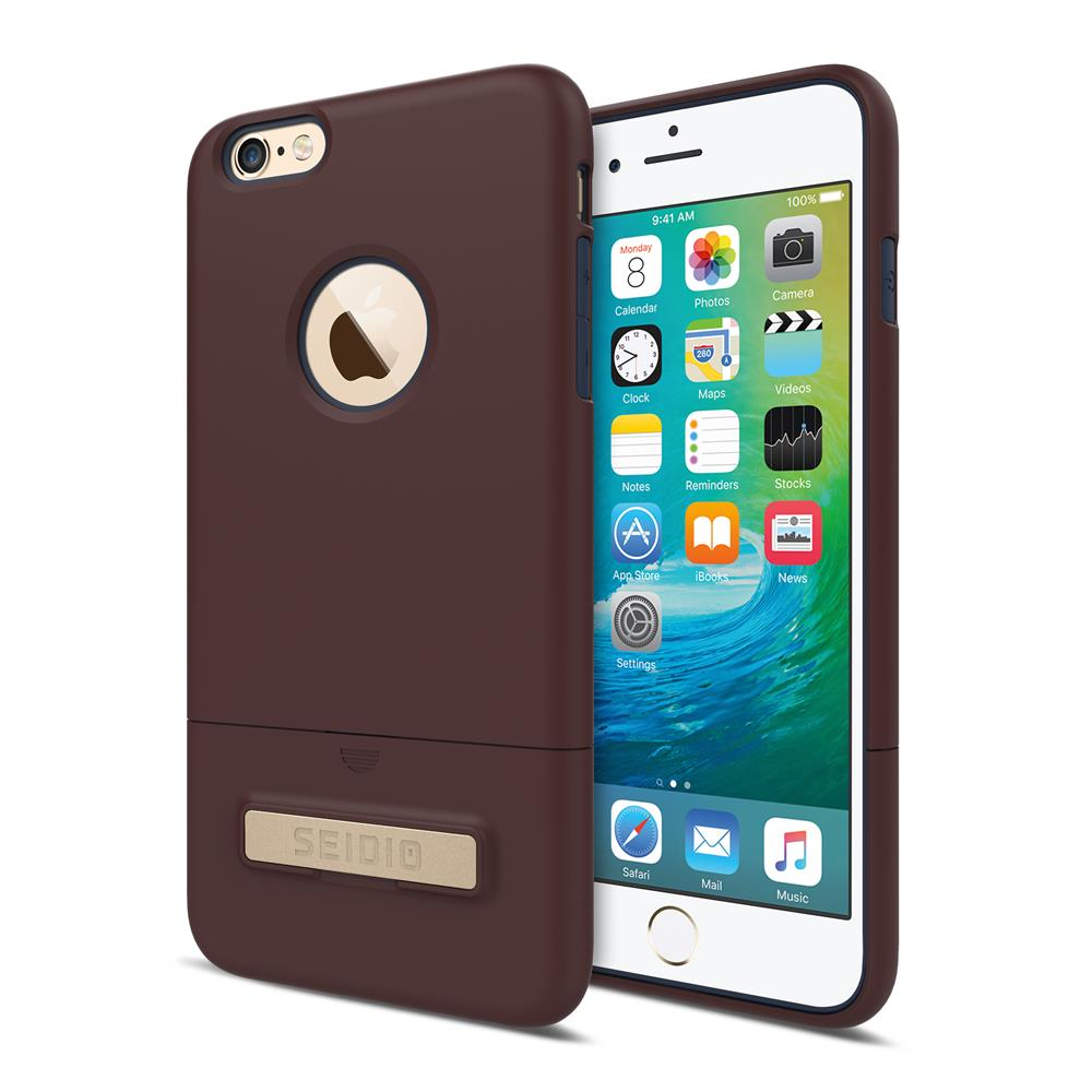 SEIDIO|都會時尚雙色手機殼/保護殼 for Apple iPhone 6/6s Plus-SURFACE(古銅棕藍)
