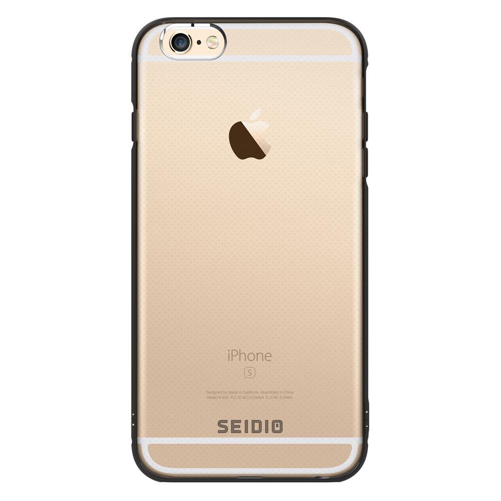 SEIDIO|極簡透明背蓋金屬手機框/保護框 for Apple iPhone 6/6s Plus-TETRA(古銅棕)