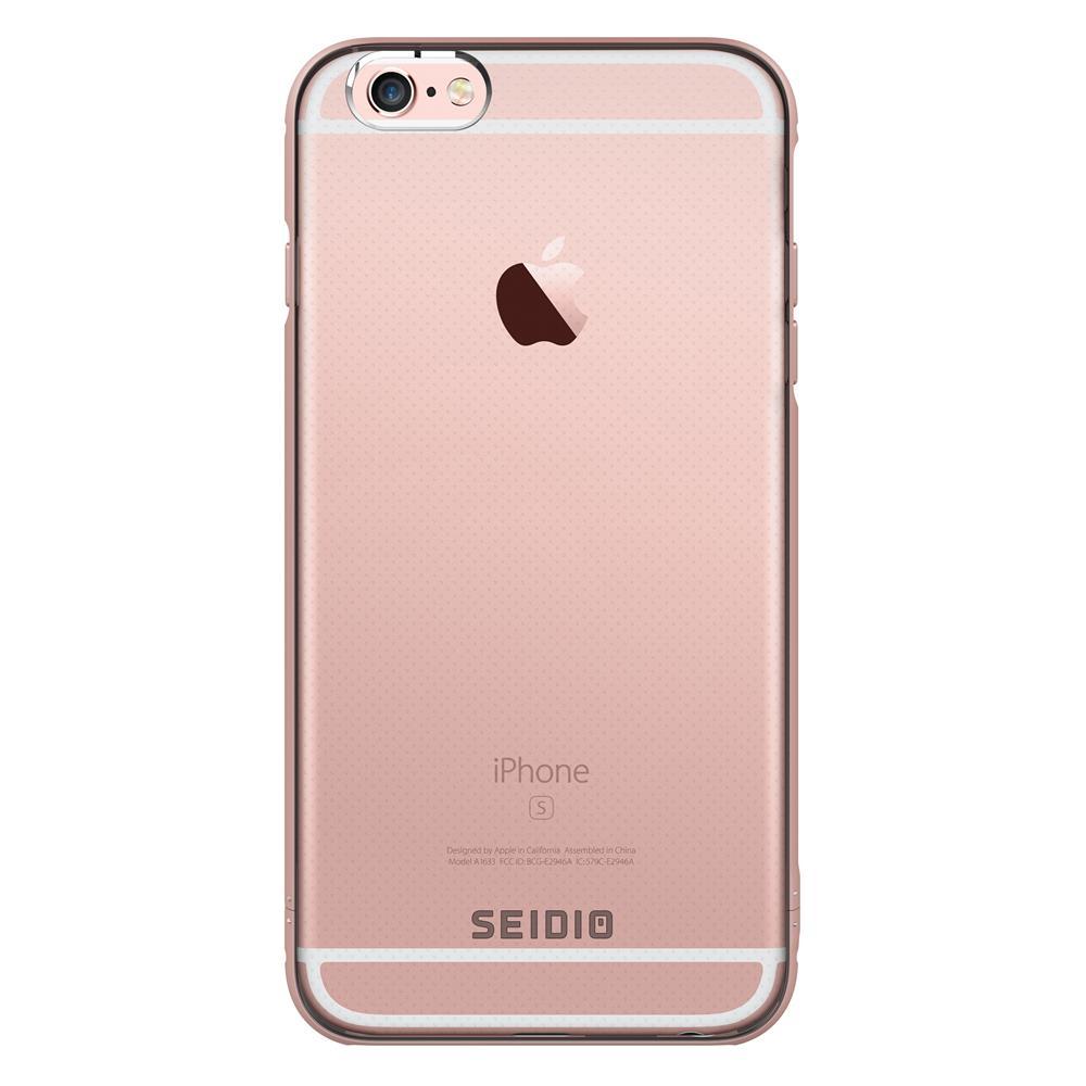 SEIDIO|極簡透明背蓋金屬手機框/保護框 for Apple iPhone 6/6s Plus-TETRA(玫瑰金)
