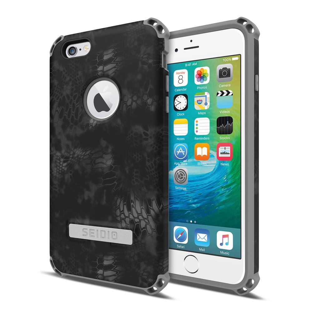 SEIDIO|軍規級四角防摔手機殼/保護殼 for Apple iPhone 6/6s-DILEXx KRYPTEK(闇夜黑蟒)