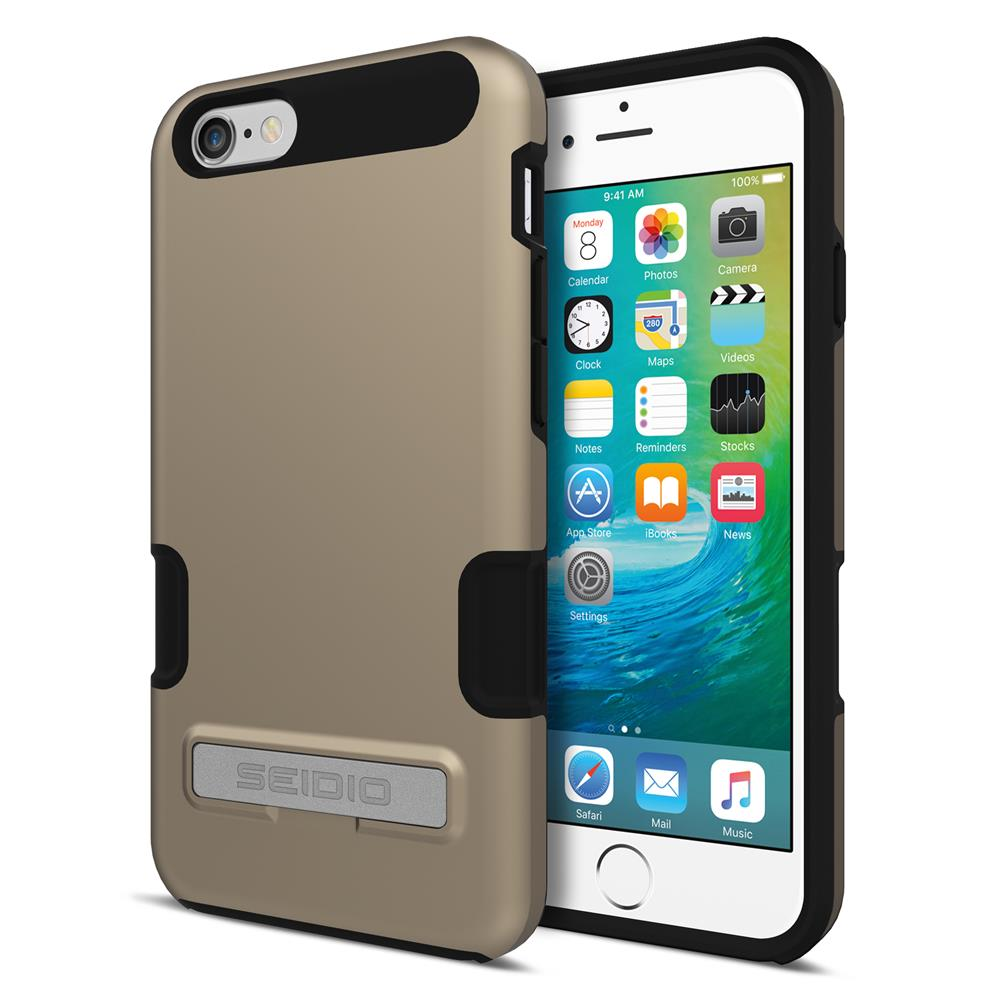 SEIDIO 專業級雙層手機殼/保護殼 for Apple iPhone 6/6s-DILEX Pro(時尚金)