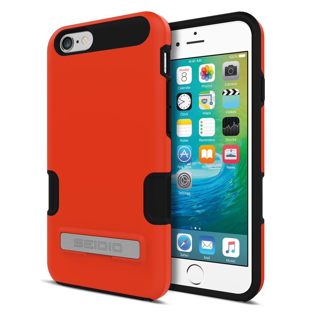 SEIDIO|專業級雙層手機殼/保護殼 for Apple iPhone 6/6s-DILEX Pro(活力橘)