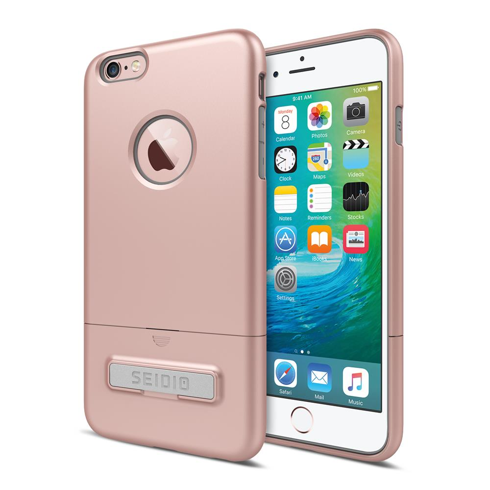 SEIDIO|都會時尚雙色手機殼/保護殼 for Apple iPhone 6/6s-SURFACE(玫瑰金灰)