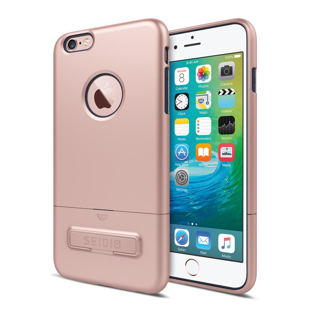 SEIDIO|都會時尚雙色手機殼/保護殼 for Apple iPhone 6/6s-SURFACE(玫瑰金藍)