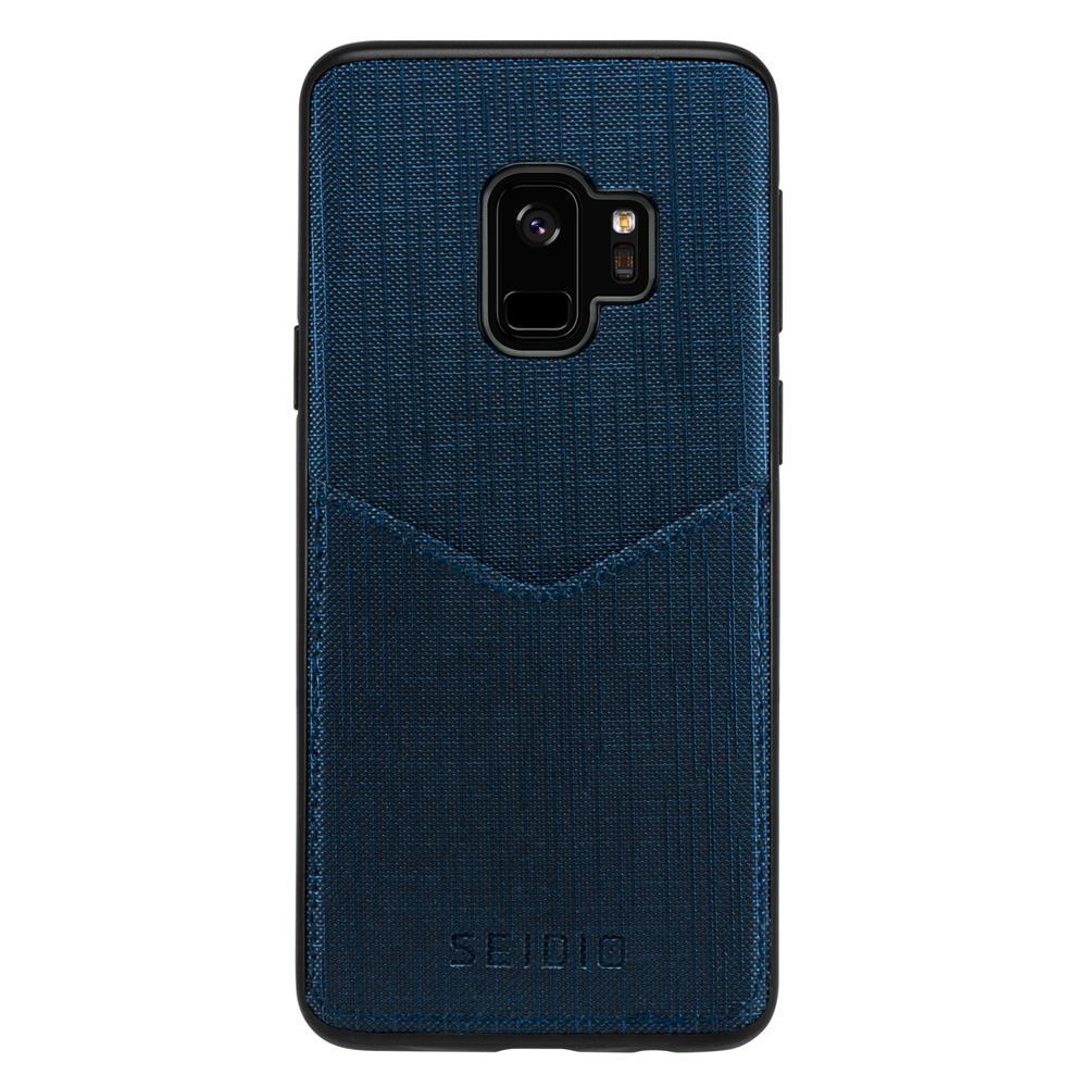 SEIDIO|極簡皮革手機殼/保護殼 for Samsung S9-EXECUTIVE(科技藍)