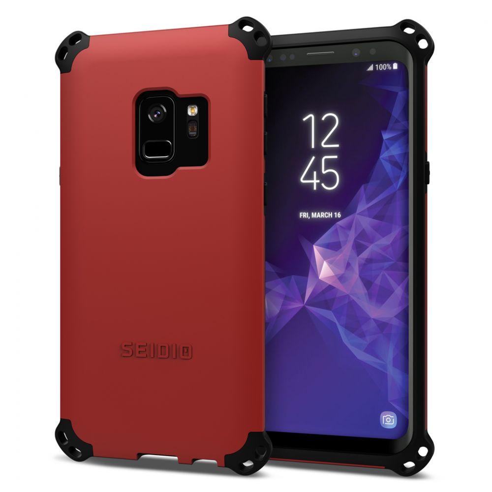 SEIDIO|軍規級四角防摔手機殼/保護殼 for Samsung Galaxy S9-DILEX2018(熱情紅)