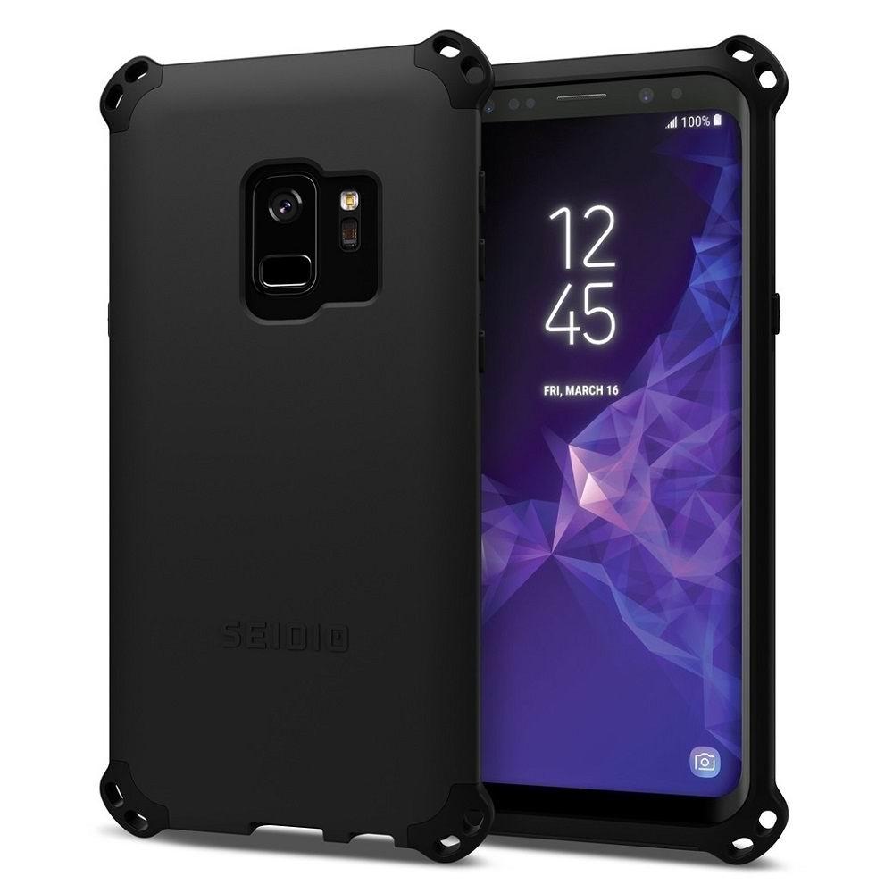 SEIDIO|軍規級四角防摔手機殼/保護殼 for Samsung Galaxy S9-DILEX2018(雅痞黑)