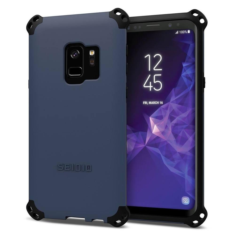SEIDIO|軍規級四角防摔手機殼/保護殼 for Samsung Galaxy S9-DILEX2018(暗夜藍)