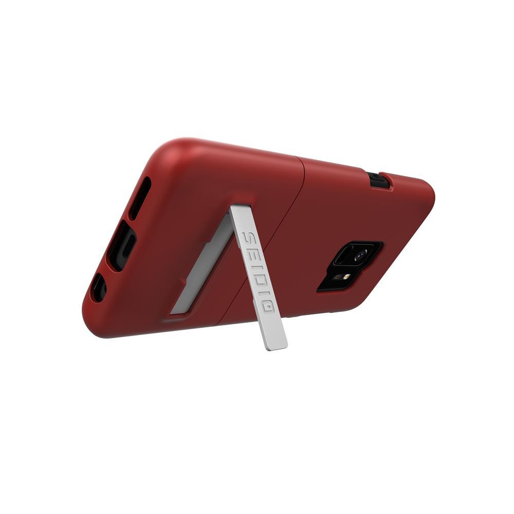 SEIDIO|都會時尚手機殼/保護殼 for Samsung S9-SURFACE(熱情紅)