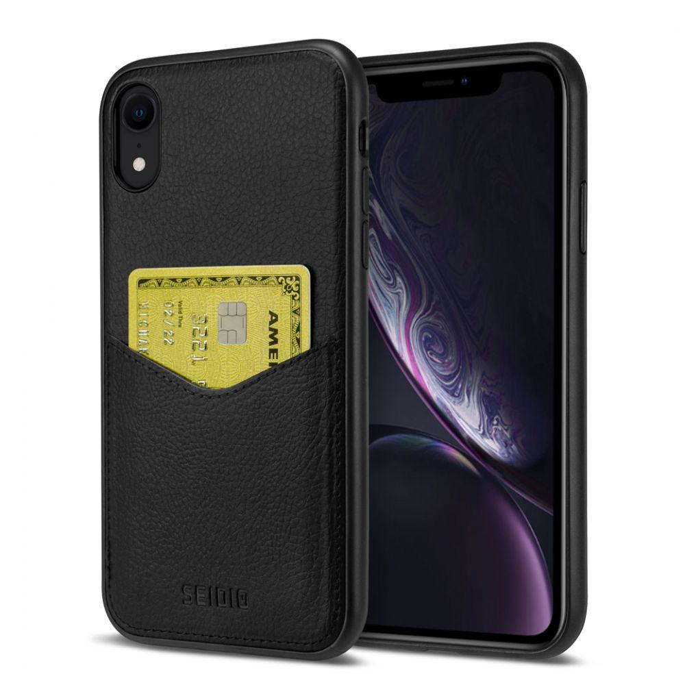 SEIDIO|極簡皮革手機保護殼 for Apple iPhone XR-EXECUTIVE(紳士黑)