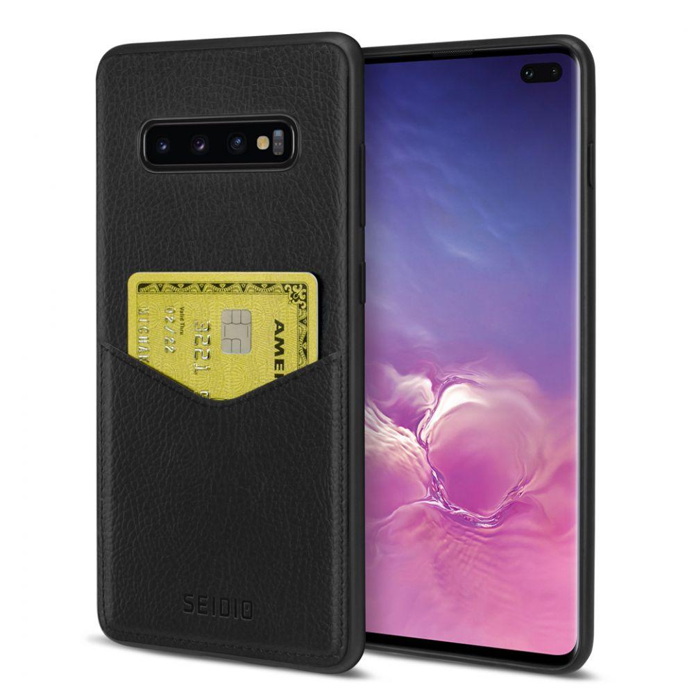 SEIDIO 極簡皮革手機保護殼 for Samsung Galaxy S10 Plus-EXECUTIVE™(紳士黑)
