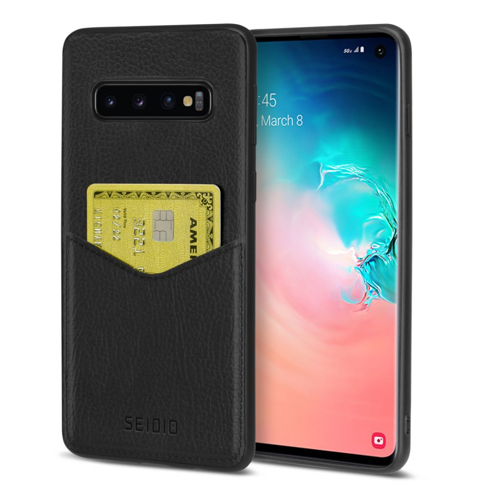 SEIDIO|極簡皮革手機保護殼 for Samsung Galaxy S10-EXECUTIVE™(紳士黑)