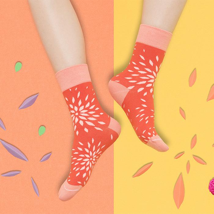 sokker®|秋菊盎然4分之3襪
