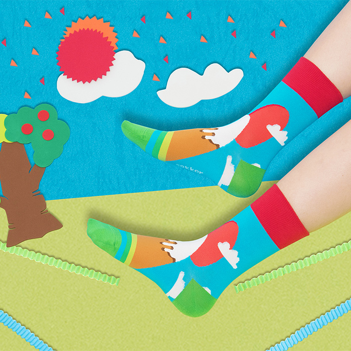 (複製)sokker®|雙鯉躍出4分之3襪