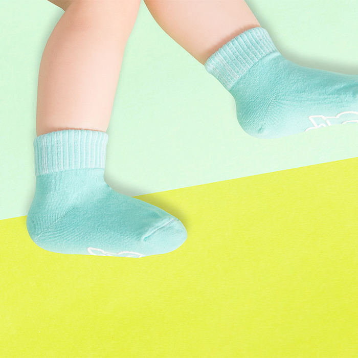 (複製)sokker®|馬卡龍防滑2分之1童襪(海洋藍)