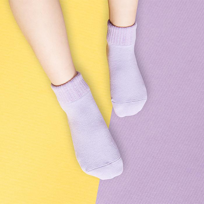 (複製)sokker®|馬卡龍防滑2分之1童襪(櫻花粉)