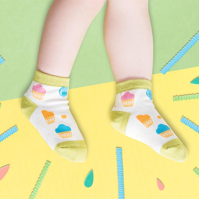 (複製)sokker® 櫻桃心防滑2分之1童襪