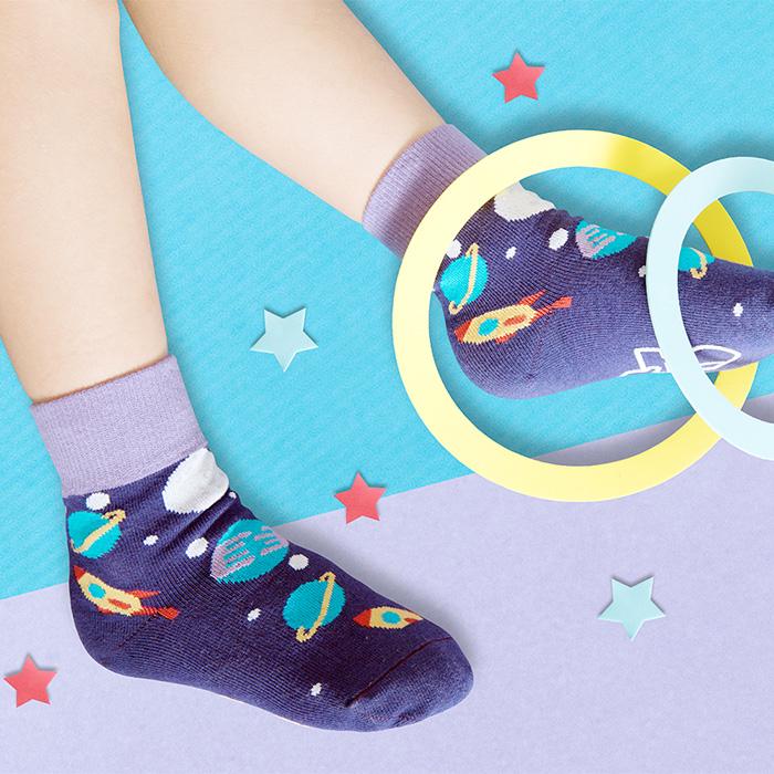 (複製)sokker®|兒時童玩防滑4分之3童襪