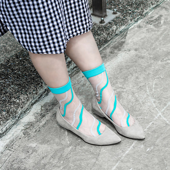 (複製)sokker®|粉雪夜曲4分之3玻璃襪