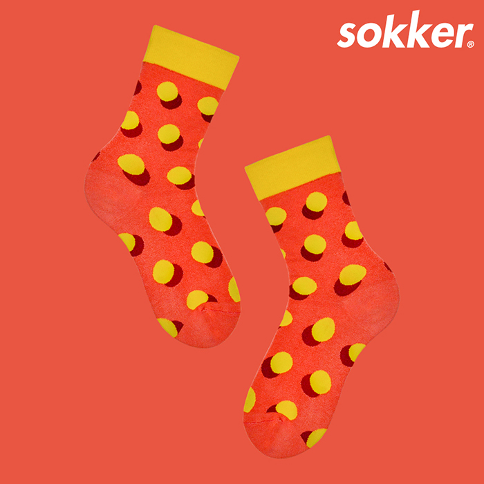 sokker®|柑橘泡泡4分之3襪