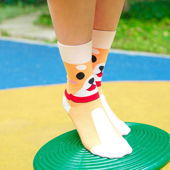 sokker® 呆萌柴犬4分之3襪