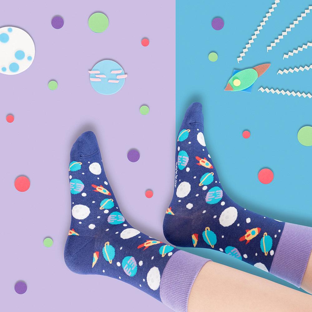 sokker®|太空星球4分之3襪