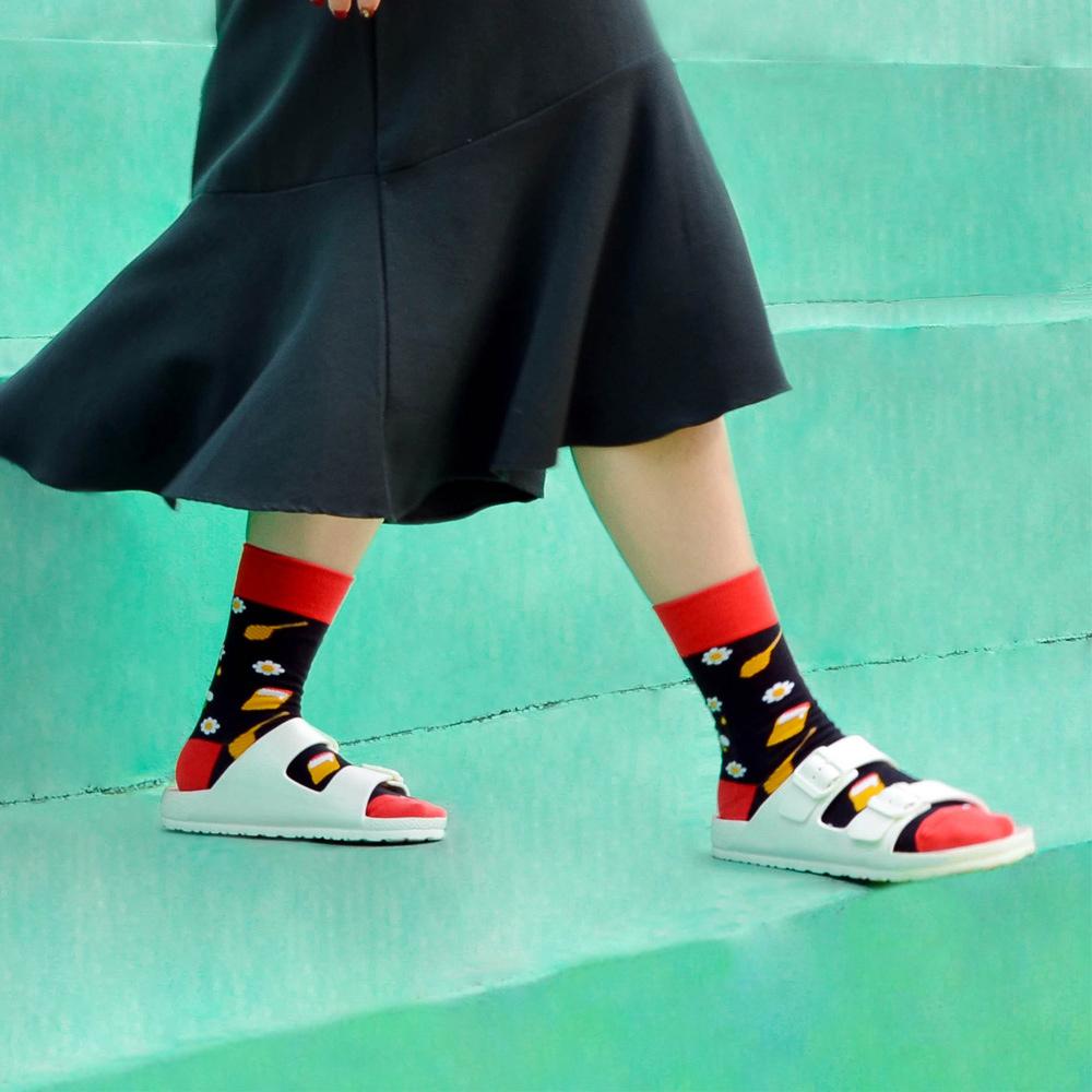 sokker®|甜蜜花蜂4分之3襪