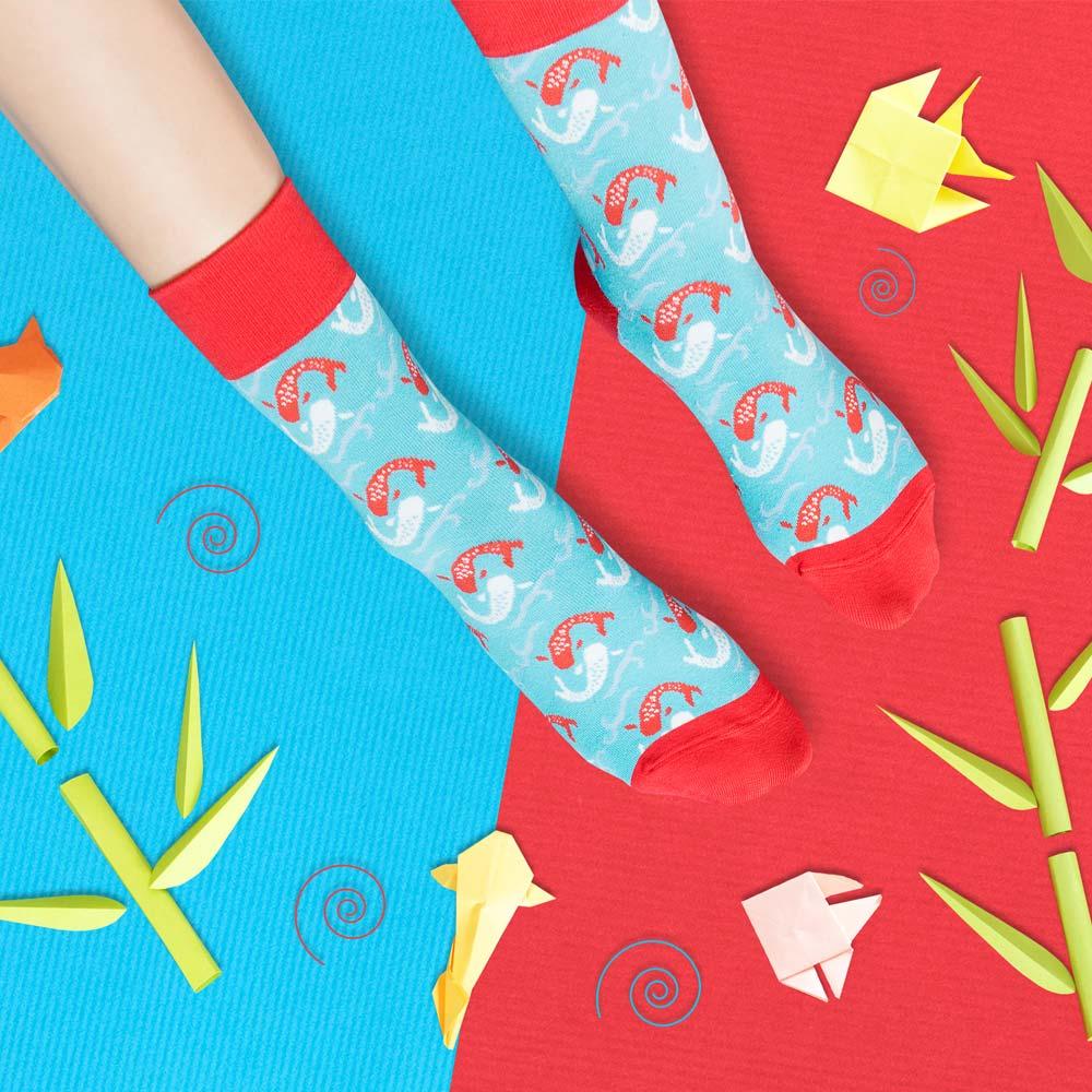 sokker®|雙鯉躍出4分之3襪