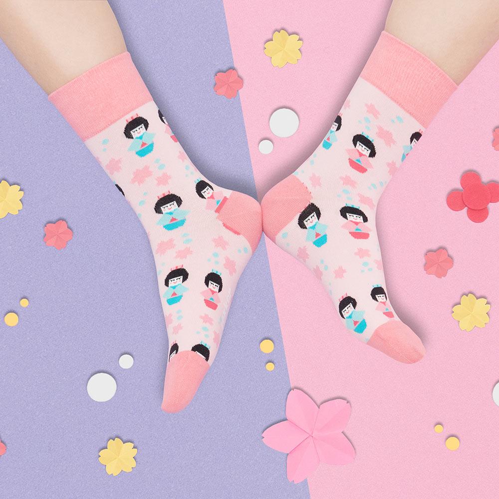 sokker®|和服娃娃4分之3襪