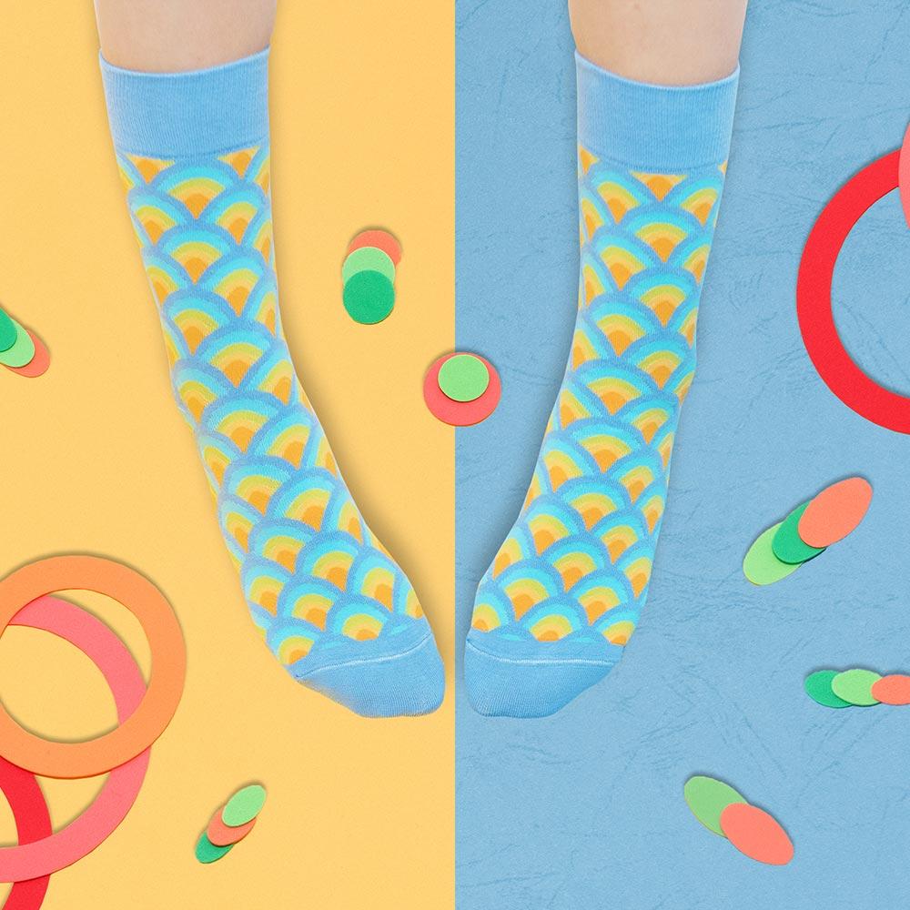 sokker®|金桂浪紋4分之3襪