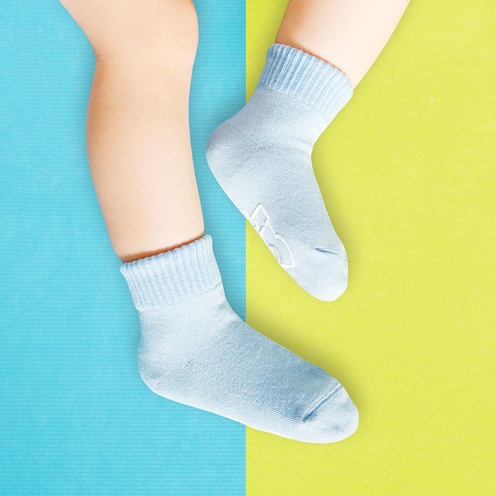 sokker®|馬卡龍防滑2分之1童襪(海洋藍)