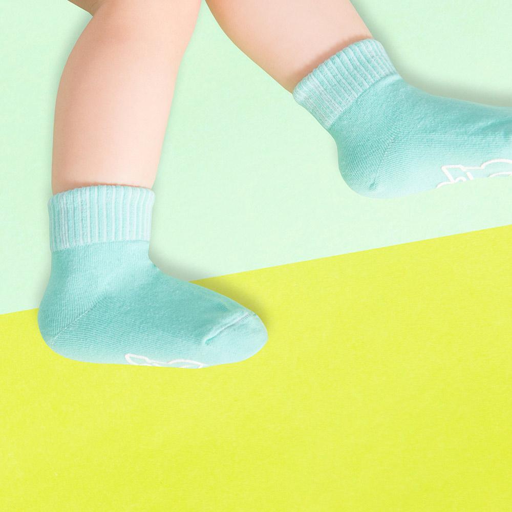 sokker®|馬卡龍防滑2分之1童襪(薄荷綠)