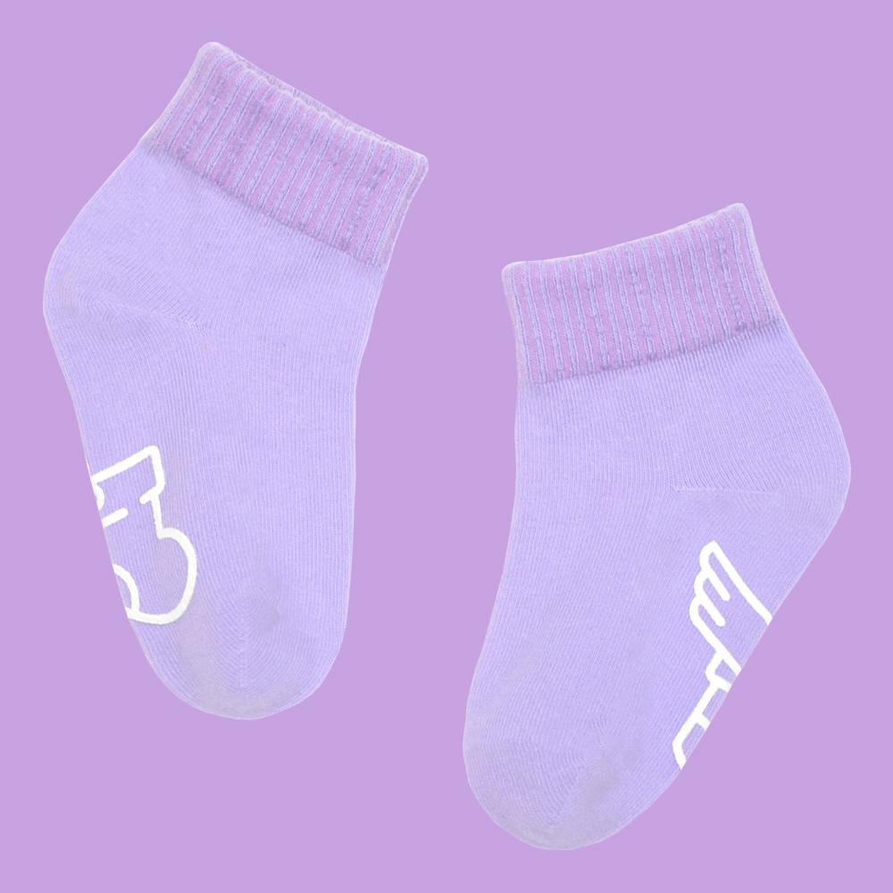 sokker®|馬卡龍防滑2分之1童襪(夜空紫)
