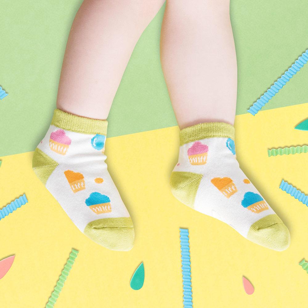 sokker® 冰甜筒防滑2分之1童襪