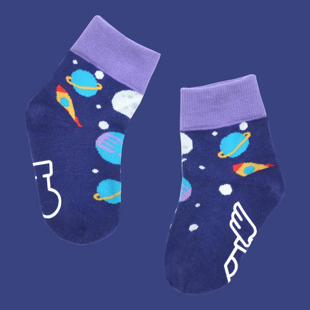 sokker®|太空星球防滑4分之3童襪