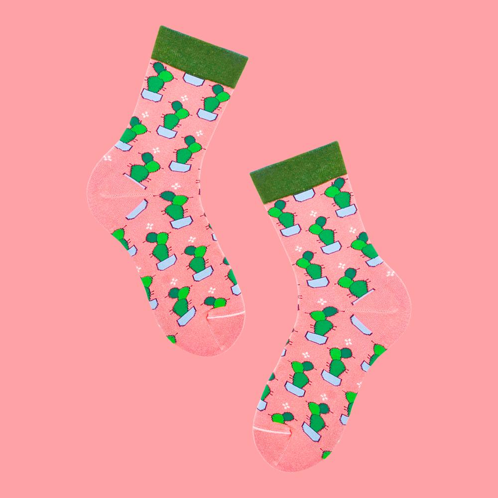 sokker® 桃粉仙掌4分之3襪