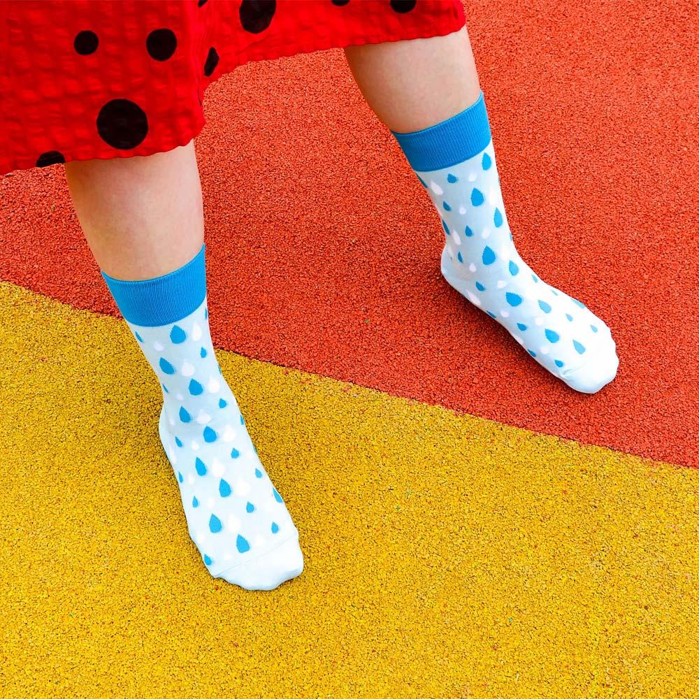 sokker®|藍雨霏霏4分之3襪