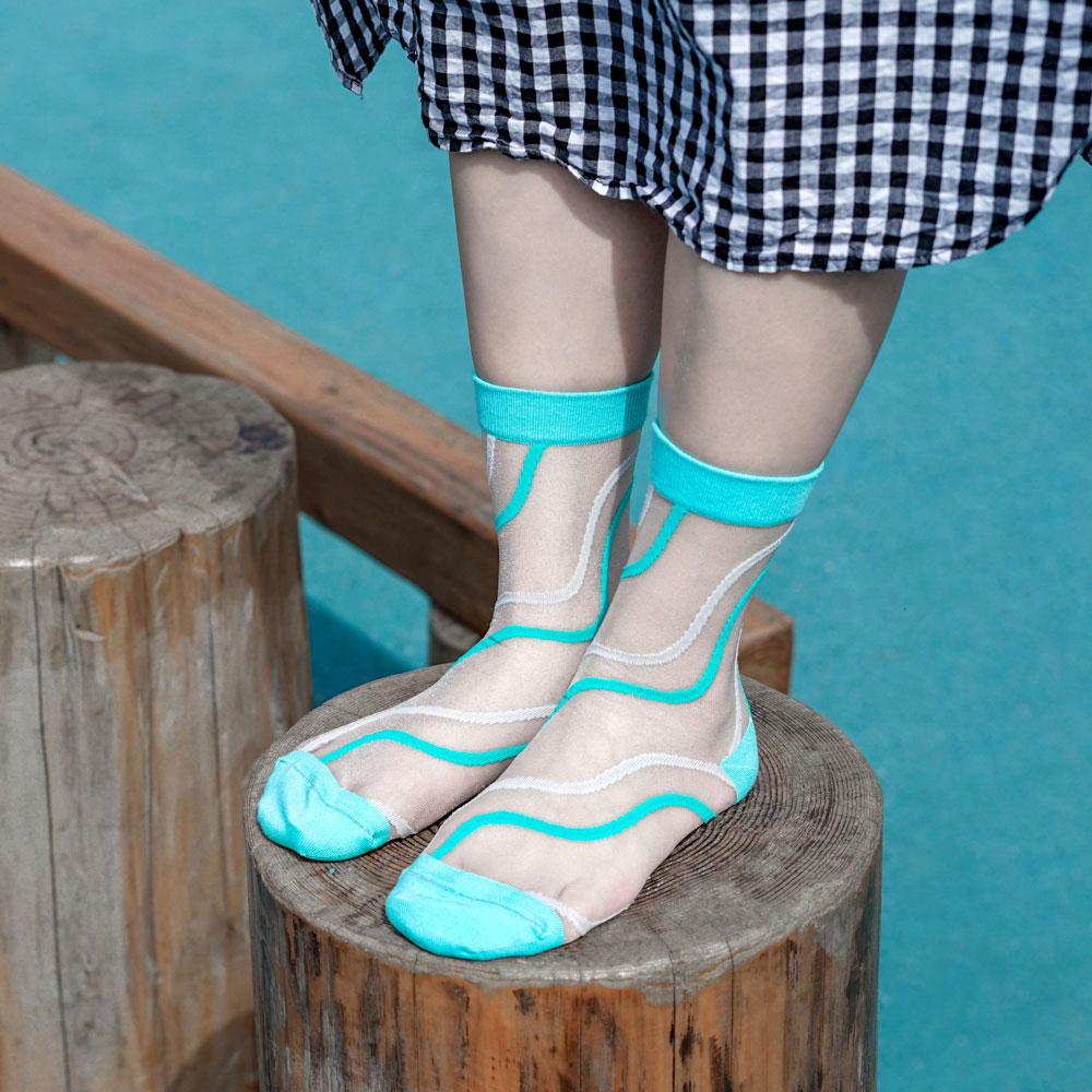 sokker®|碧藍之夢4分之3玻璃襪