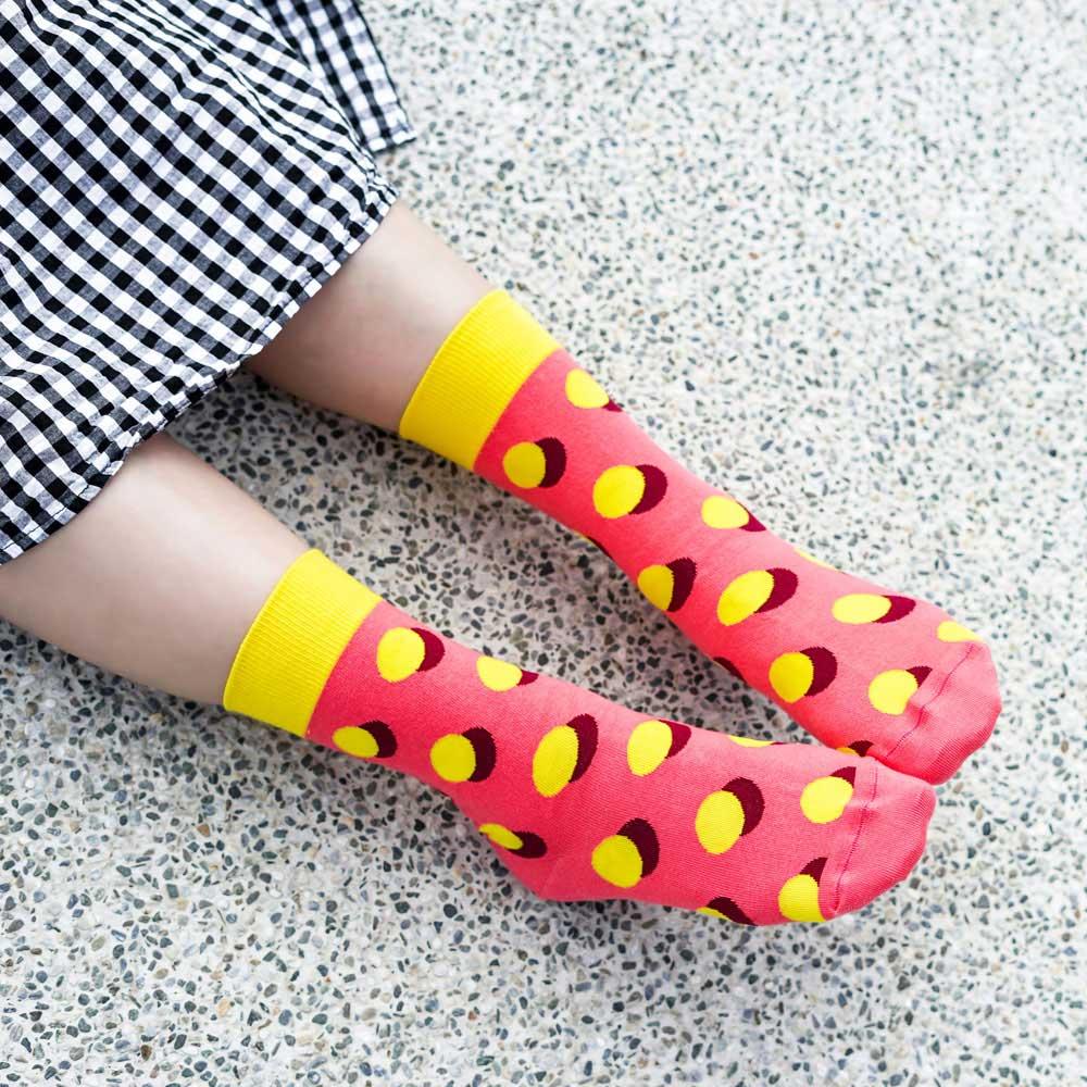 sokker® 柑橘泡泡4分之3襪