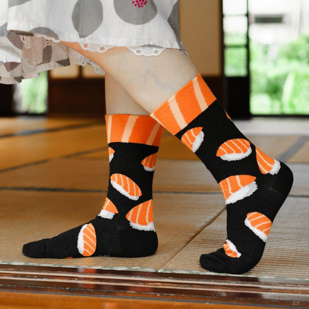 sokker® 紅鮭壽司4分之3襪
