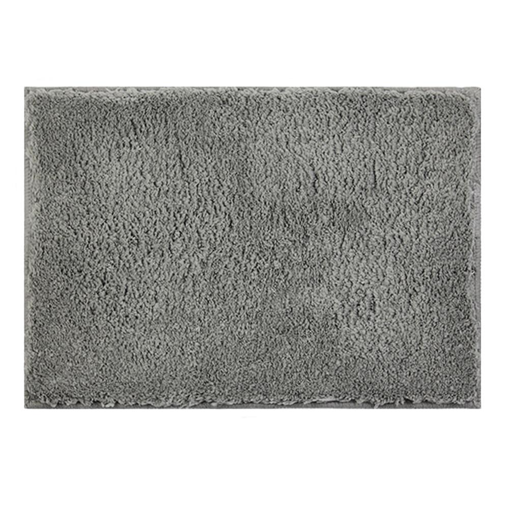 日本品織|橋爪商店 吸水柔棉浴墊 - 深灰色