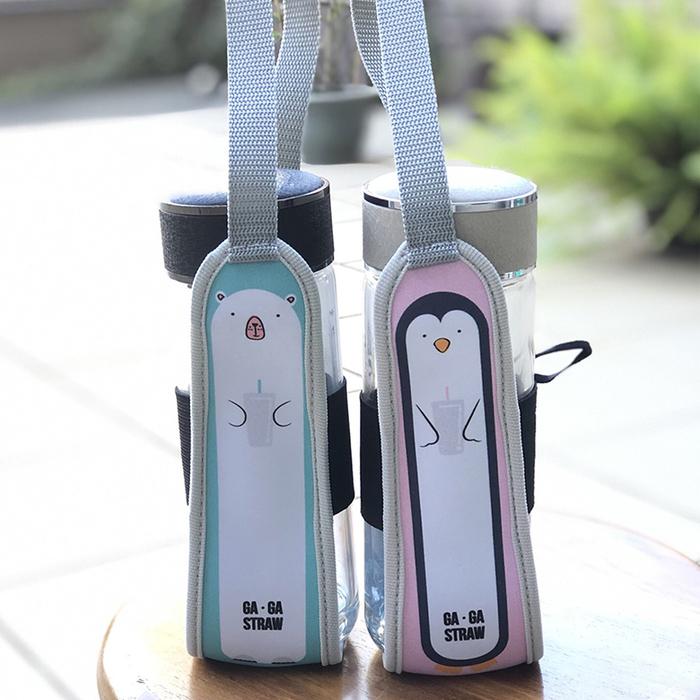 (複製)卡卡環保吸管2支入(透明一粗一細版)-企鵝