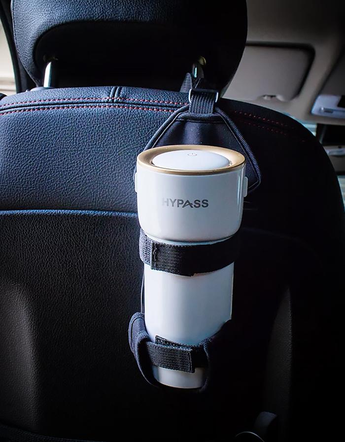 *暫勿送審-複製用* HYPASS|【防疫抗菌首選】2代空氣瓶子袋著走 車用空氣清淨機(2組入)