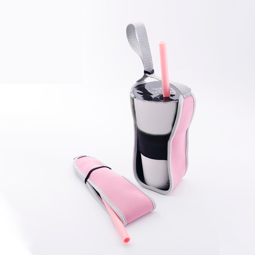 GAGA STRAW|卡卡捲2代-杯套吸管2合1隨行套(不含吸管)/2色可選
