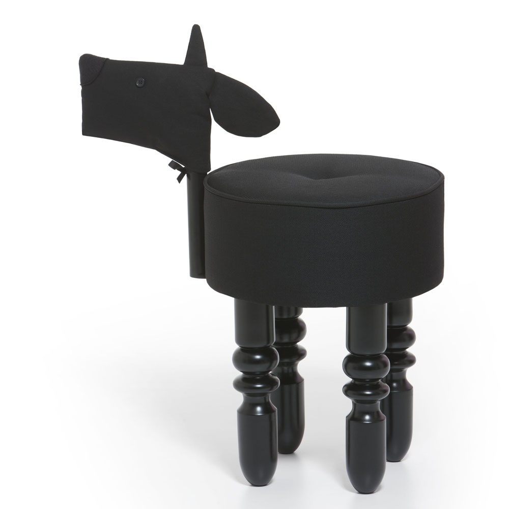 biaugust deco|動物家俱椅/黑色小羊椅